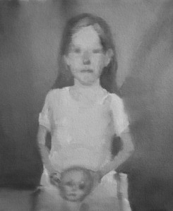 Little Girl Holding Doll's Head_oil on canvas_14_x12__2013