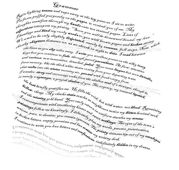 grammar concrete poem